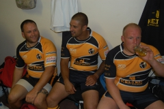 17. l-r Darren Jacques, Royce Molin and Peter Joyce in great spirits post-match