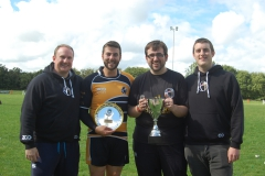18. l-r Rebels Treasurer Laurence Belt, Captain Grant Thirlby, Chairman John Beach and Secretary Rob Butland